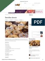 Sencillas Donuts