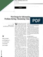 Web Design for Information Problem-solving