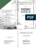 Louis Lavelle - La Présence Totale