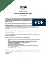 The Art of Scholarship Cover Lettersde