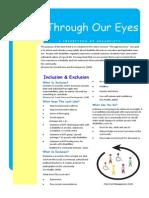Fact Sheet Through Our Eyes