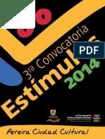 Manual 3ra Convocatoria Estimulos 2014 Mayo