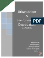 B Urbanization & Environmental Degradation