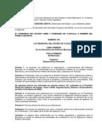 Ley Municipal Del Estado t Lax Cal A