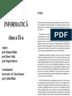 INFORMATICA Pentru Grupele de Performanta Cl 9