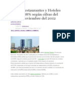Sectores de Restaurant y Hoteles
