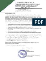 Program Peningkatan Kompetensi Kepala Madrasah Tahun 2014