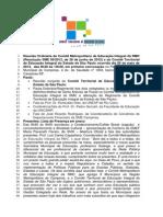 Ata reunião conjunta dos Comitês Estadual e Metropolitano de Educação Integral no Estado de São Paulo