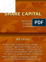 Share Capital by Sushil Bhalla Mba m.com Dca Diem