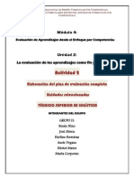 Plan de evaluacion completo de unidades seleccionadas. Grupo D