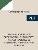 Certificacion Playa