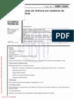 NBR 12284 - 1991 - Áreas de Vivência Em Canteiros de Obras