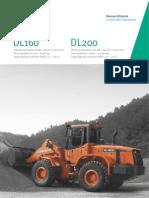 Cargadoras sobre neumáticos DOOSAN DL160 / DL200