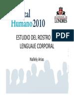 Estudio Del Rostro y El Lenguaje No Verbal