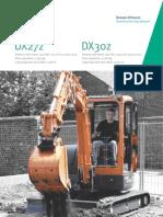 Excavadoras Hidráulicas DOOSAN DX27z  / DX30z