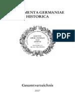 MGH - Gesamtverzeichnis 2007