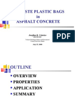 08b Waste Plastic Bags in Asphalt Concrete