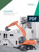 Excavadora hidráulica DOOSAN DX210w