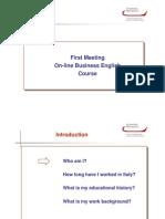 Prima Lezione in Aula Virtuale