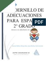 Cuadernillo de Adecuaciones Para Español 2