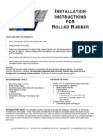 Rolled Rubber Installation Instructions