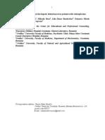 Rosoiu Ei Al., The Lipid Profile and the Hepatic Disturbance