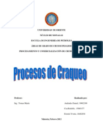 TEMA N°3 CRAQUEO E HIDROCRAQUEO