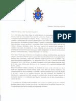 Carta del papa Francisco a Zaffaroni