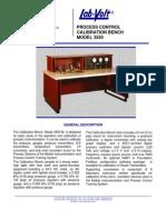 3550 Calibration Bench Data Sheet