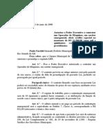 Projeto de Lei 017 - 08 Lei 625