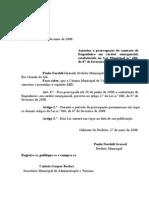 Projeto de Lei 021 - 08 Lei 629