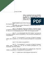 Projeto de Lei 022 - 08 Lei 628