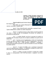 Projeto de Lei 034 - 08 Lei 642