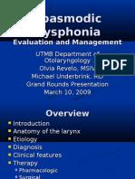 Dysphonia Slides 090310