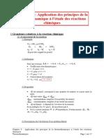 09 Application Des Principes de La Thermodynamique à l'Étude Des Réactions Chimiques