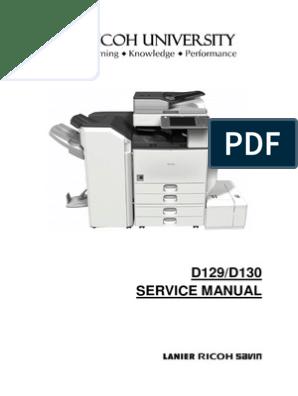 Aficio 4002-5002 D129/D130 SERVICE MANUAL | Image Scanner