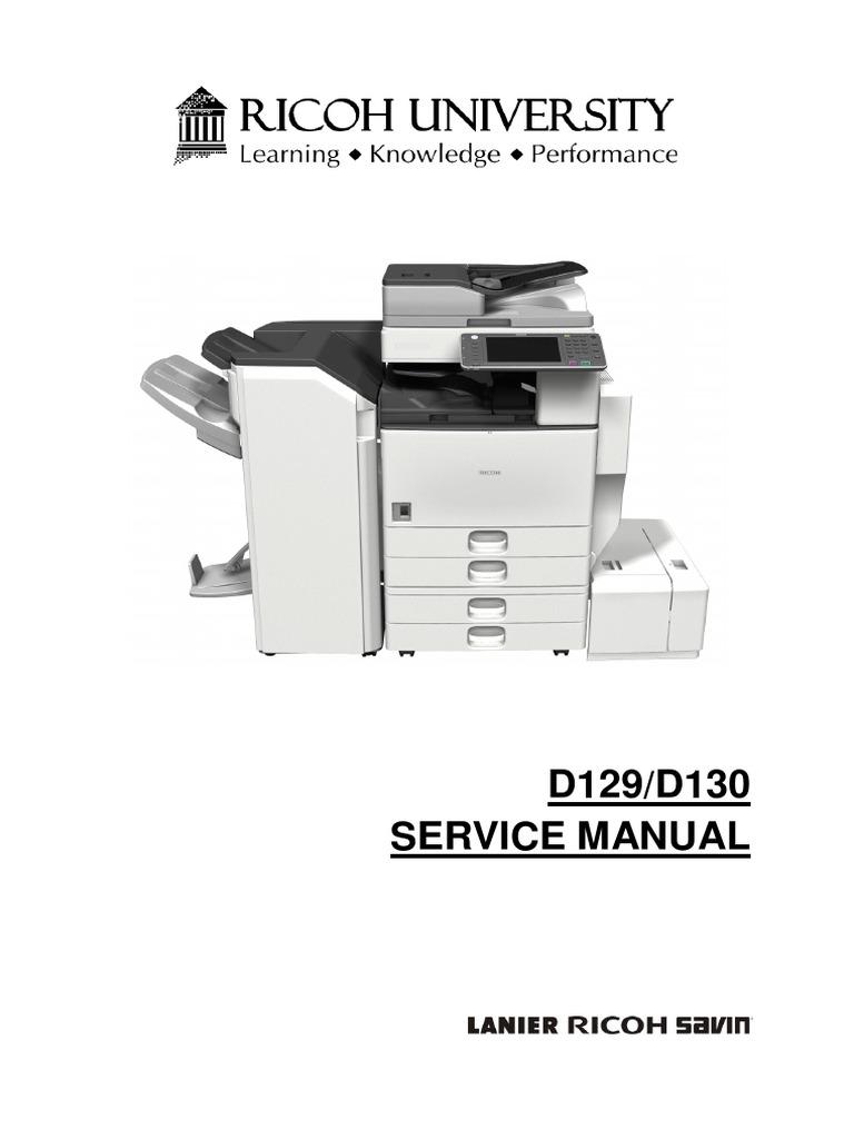 aficio 4002 5002 d129 d130 service manual image scanner battery rh es scribd com ricoh mp 4500 service manual pdf ricoh mp c4500 service manual free download