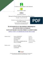 Ecoulements Et Transferts Thermiques en Convection Naturel