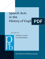 Andreas H. Jucker, Irma Taavitsainen Speech Acts in the History of English 2008
