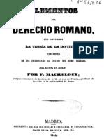 Elementos Del Derecho Romano Mackeldey