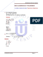 Exp. Algebraicas y Polinomios