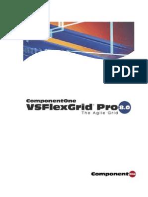 componentone vsflexgrid 8 serial number