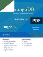 Nosql Now 2012