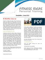 Fitness Ideas Newsletter - 1 June 2014