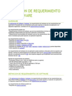 Definicion de Requerimiento de Hardware&Software