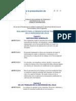 Reglamento Para La Presentación de Trabajos en LUZ