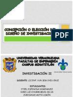 Concepción o Elección Del Diseño de Investigación