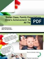 social class vs  family expectations