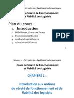 Cours N° 01 - Sûreté de Fonctionnement et Fiabilité de Logiciel - M1 SSI.pdf
