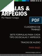 Libro de Escalas y Arpegios Bajo - Nestor Crespo